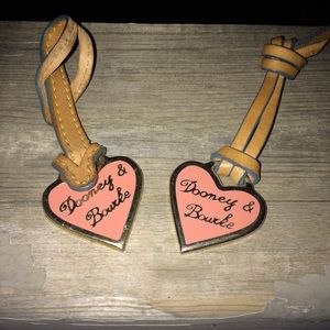 DOONEY & BOURKE Gold/Leather Purse Hang Tags